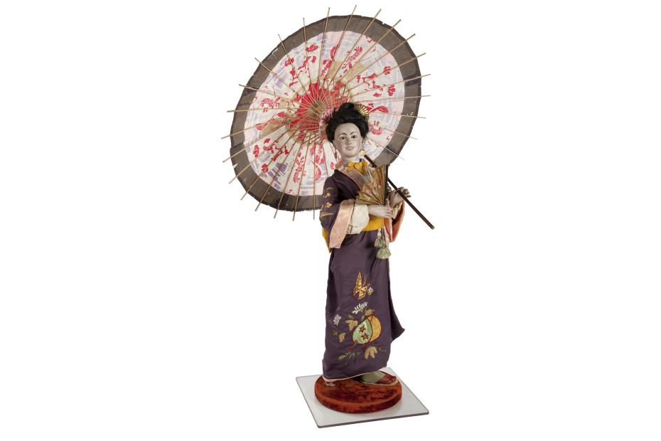 Japanse dame met parasol collectie Museum Speelklok Utrecht