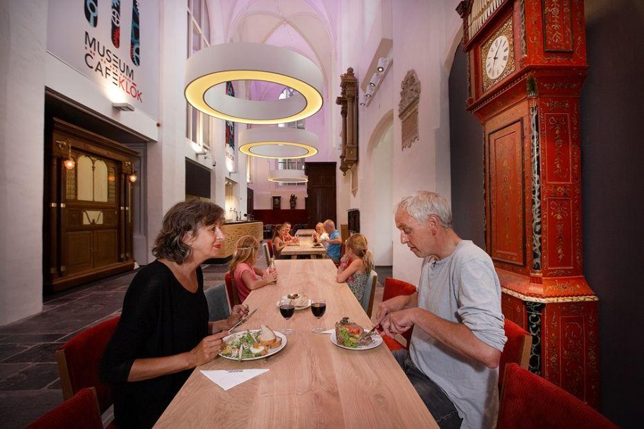 in museumcafé Klok kan je lekker lunchen