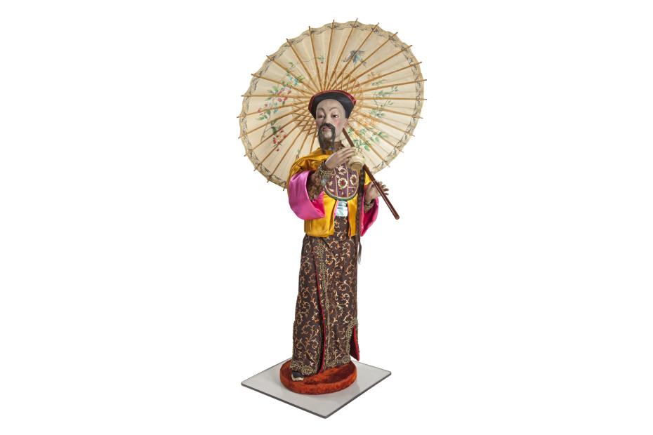 Theedrinkende Chinese heer collectie Museum Speelklok