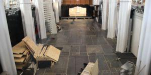 Nieuwe vloer in Middenschip